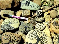 Make The Best of Things: Paint Pen on Rocks.