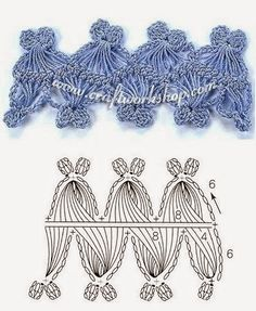 TRICO and crochet-madonna-mine: Hairpin lace motifs and weave them (graphics)