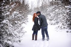 Pretty Wisconsin winter engagement shoot...