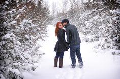 Pretty Wisconsin winter engagement shoot...