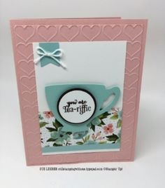 Handmade card using the A Nice Cuppa Stamp Set, Birthday Bouquet DSP and Cups & Kettle Framelits Dies from Stampin' Up!