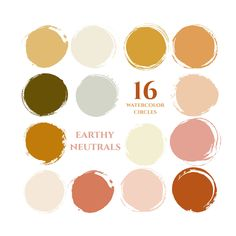 autumn fall colors instagram story highlight icons earthy neutrals watercolor circles clipart gold copper mustard yellow blog branding kit