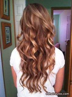 gorgeous long dark blonde curly hairstyle - 99 Hairstyles Ideas
