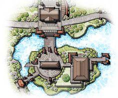 island landscape design, rest house, landscape master plan, show-flat, river side landscape, bridge landscape, gateway #UrbanLandscape #LandscapeLayout