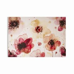 Graham & Brown 'Painterly Blossoms' Watercolor Painting Print on Canvas Cotton Painting, Canvas Wall Art, Canvas Prints, Canvas Online, Graham Brown, Home Wall Art, Baby Girl Newborn, Baby Clothes Shops, Baby Shop
