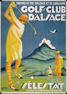 Dorette Muller, Golf-Club d'Alsace, Chemins de fer d'Alsace et de Lorraine, vers 1925