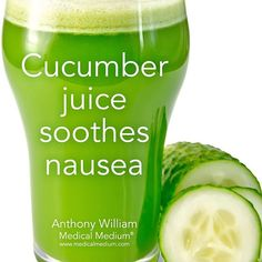 Cucumber juice soothes nausea Learn more about the healing powers of cucumbers in Life-Changing Foods, link in profile