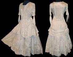 Victorian Walking Dress Wedding Ivory