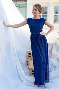 Alice Maxi Dress Navy Blue