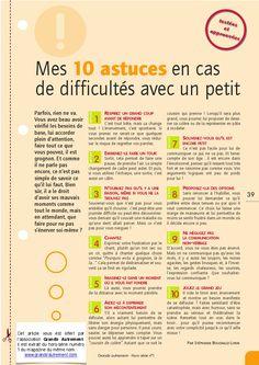 10 astuces en cas de difficultés avec un petit