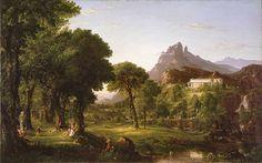 Thomas Cole: Dream of Arcadia. 1838. Oil on canvas.