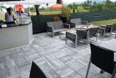 Häusler Trend Rubinrot Marmoriert Lassen Auch Ihre Terrasse - Splittbett für terrasse