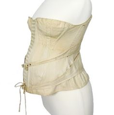 Maternity Corset c. 1892 Image courtesy Antique Textile.