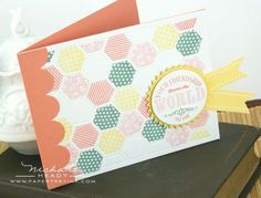 World to Me card #PTI lots of examples using Happy Hexagons die and stamps