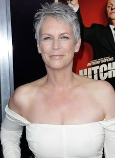 Jamie Lee Curtis. No one has mastered aging like her, in my opinion.  She dresses fab, is all natural, and look gorgeous.  She's my aging mentor.