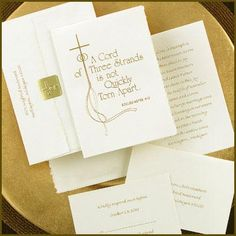 Cord of Three Christian sentiment wedding invitation.