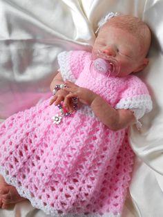 NEW PDF FILE Crochet pattern Simple Shells Dress Baby Reborn Newborn sized free post. $5.49, via Etsy.
