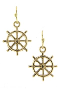 Steering Wheel Dangle Earrings (2 Colors Available)