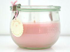 Kerzen - Duftkerze Rose - ein Designerstück von miocolori-Kerzen bei DaWanda