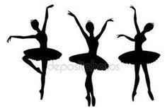 Resultado de imagen para siluetas de bailarinas de ballet