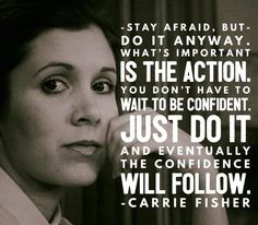 Stay afraid. But do it anyway. What's important is the action. You don't have to wait to be confident. Just do it and eventually the confidence will follow. Yeah baby, this is totally #WildlyAlive! #selflove #fitness #health #nutrition #weight #loss LEARN MORE → www.WildlyAliveWeightLoss.com