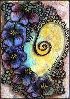 Art Journal inspiration: Beautiful Art Journal page..... I LOVE this!
