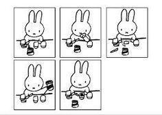 logische reeksen kleuters - nijntje Miffy, Love You, Snoopy, Fictional Characters, Om, Bunny, Te Amo, Je T'aime, I Love You