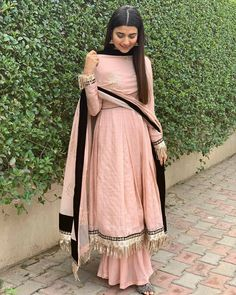 Beautiful Nimrat khaira in our label ❤️ Designer Anarkali Dresses, Designer Party Wear Dresses, Kurti Designs Party Wear, Pakistani Dress Design, Pakistani Dresses, Indian Dresses, Indian Wedding Outfits, Indian Outfits, Suit Fashion