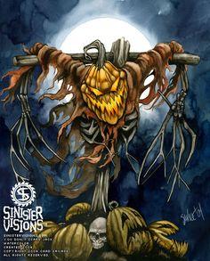 Halloween Art - The Dark Art of Chad Savage Make A Scarecrow, Halloween Scarecrow, Halloween Images, Halloween 2019, Vintage Halloween, Halloween Stuff, Evil Pumpkin, Dark Fantasy Art, Dark Art