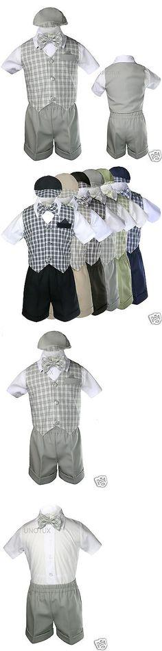 8f09cd66e Suits 147337  5-7Pc Formal Black White Suit Siiver Bow Necktie Vest ...