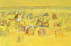 'The Pinnacles' oil on canvas 121.5x183cm
