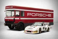 uncrate: 1977 Porsche 935 & Transporter