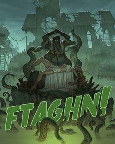 All Things Lovecraftian Art Cthulhu, Call Of Cthulhu Rpg, Lovecraft Cthulhu, Hp Lovecraft, Geeks, Yog Sothoth, Steampunk, Lovecraftian Horror, Eldritch Horror