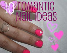 10 Romantic Nail Ideas and Heart Manicures