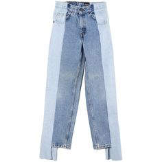 Alxvndra Alxvndra Denim 24 (€335) ❤ liked on Polyvore featuring jeans, pants, blue jeans, denim jeans and blue denim jeans