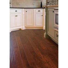 Another floor idea. Home Legend Hand Scraped Hickory Tuscany 3/4 in. Thick x 4-3/4 in. Wide x Random Length Solid Hardwood Flooring (18.70 sq.ft/case)-HL61S at The Home Depot