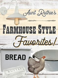 Darling Farmhouse Style decorating items and where to get them!