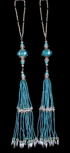 BEADED TASSELS  Maruti India BeadsTurquoise by GMBDesignsCustom, $29.00