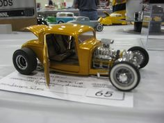 Channeled deuce coupe by James Ries on display at a Toledo NNL nationals.