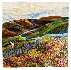 """Progress: Broaden the Horizon"" by Lin Hsin Chen.  Lancscape art quilt, OEQC 2015 exhibit"