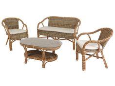 rattan bahçe mobilyaları , Lova Kabugrey oturma grubu