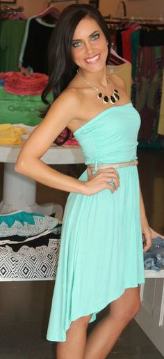 Dottie Couture Boutique - High Low Dress- Mint, $32.00 (http://www.dottiecouture.com/high-low-dress-mint/)