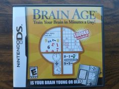 Brain Age: Train Your Brain Sudoku Nintendo DS Complete Game Manual Case #brainage #sudoku #nintendods #videogames #nintendo