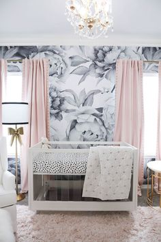 Talk about a statement! All the details come together in this chic glam nursery. Find so many nursery decor ideas to try for newest addition.