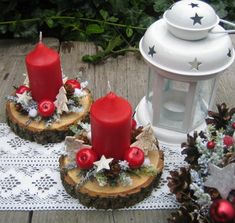 Decor Crafts, Diy And Crafts, Paper Crafts, Christmas Candle Decorations, Christmas Crafts, Diy Garland, Decoration Table, Yule, Creations