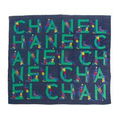 Chanel Silk Navy Green Pareo Scarf | 1stdibs.com