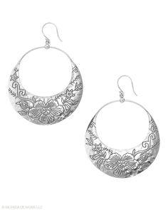 Jewelry Box by Silpada Designs   Earrings   Etched Sterling Silver Earrings