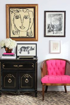 14 chic home decor ideas for decorating a blank wall space: