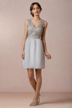 Love the lace overlay, wish the skirt was fuller. Claudine Dress