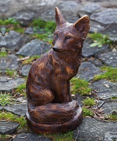 Add a fun, furry friend to a garden or porch with this statue. The intricate details and charming design will look fantastic when surrounded by the changing leaves that fall brings.11.22'' W x 19.69'' H x 9.45'' DPolystoneImported
